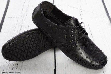 Buty męskie wiązane 010 - czarne