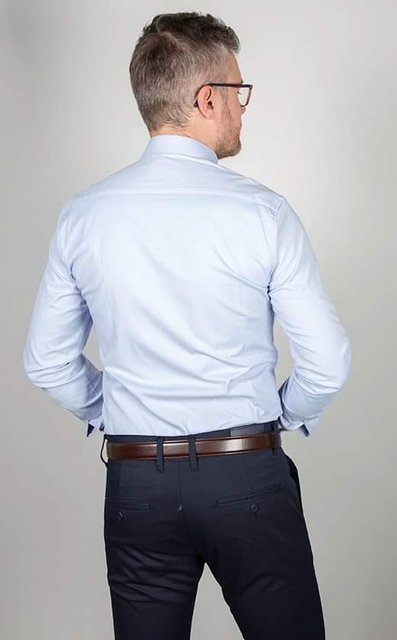 Koszula klasyczna z długim rękawem - błękitna