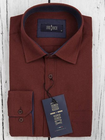 Koszula męska model DARK-bordowa