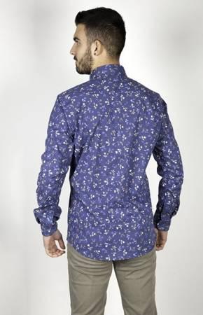 Koszula męska model GEO niebieska