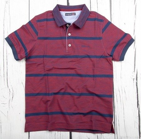 Koszulka męska polo GF 3010 bordowa