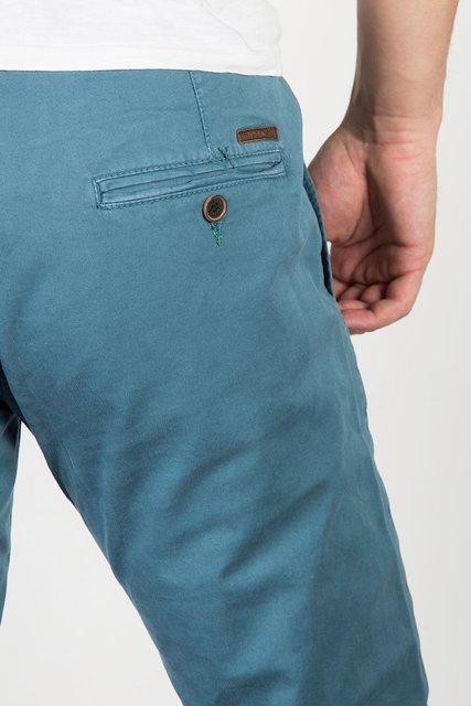 Spodnie materiałowe męskie chinosy 7647 morskie.