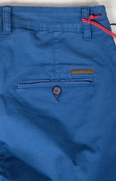 Spodnie męskie, materiałowe chinosy 7647 granatowe.