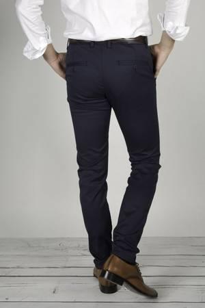 Spodnie męskie typu chino 7653 Granatowe