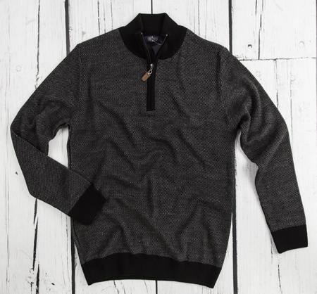 Sweter męski rozpinany Laid-Back 5437 czarny