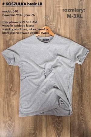 T-Shirt męski, gładki-szary